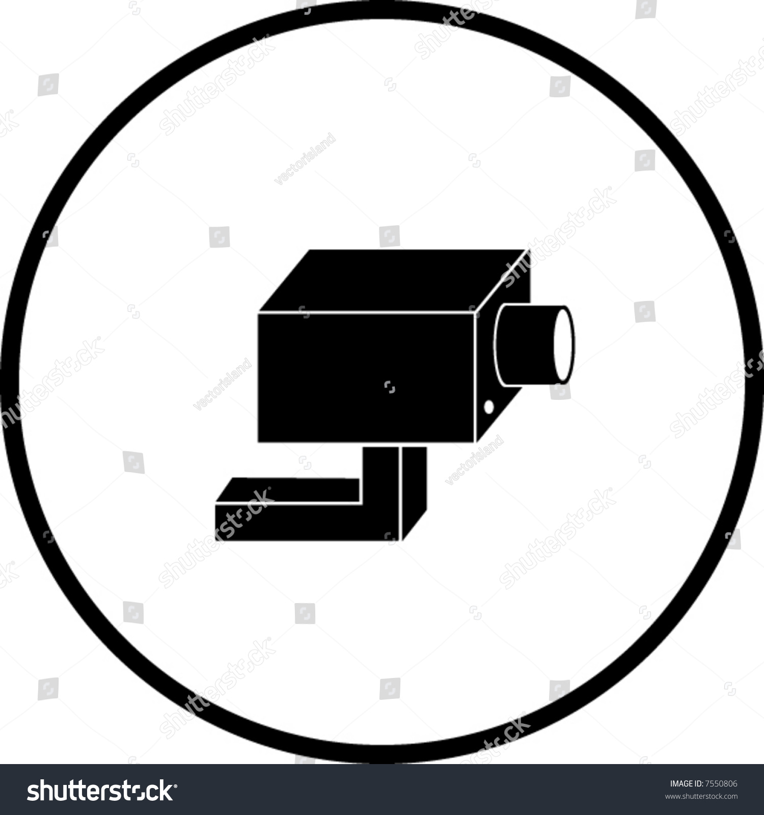 1500x1600 Security Systems Stock Vector Closed Circuit Television System