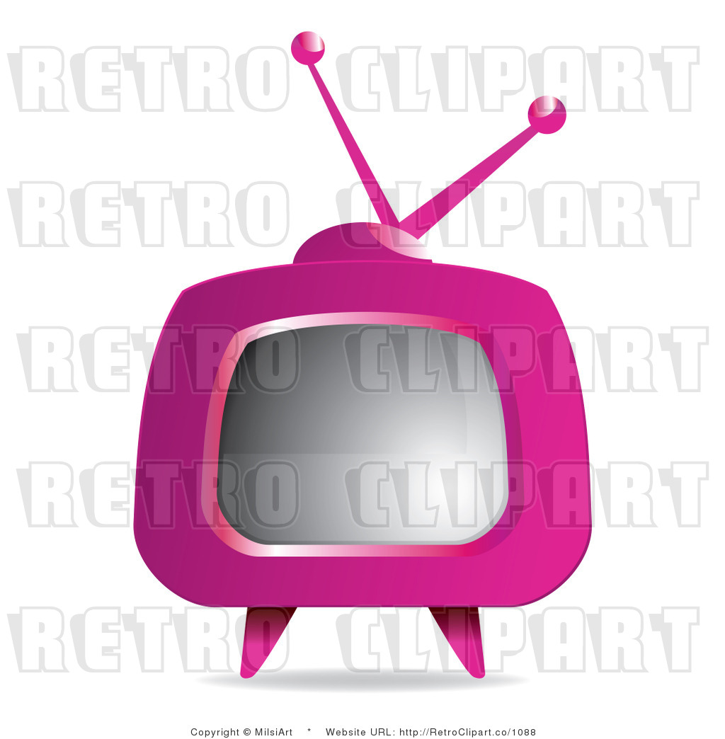 1024x1044 Tv Clipart Pink