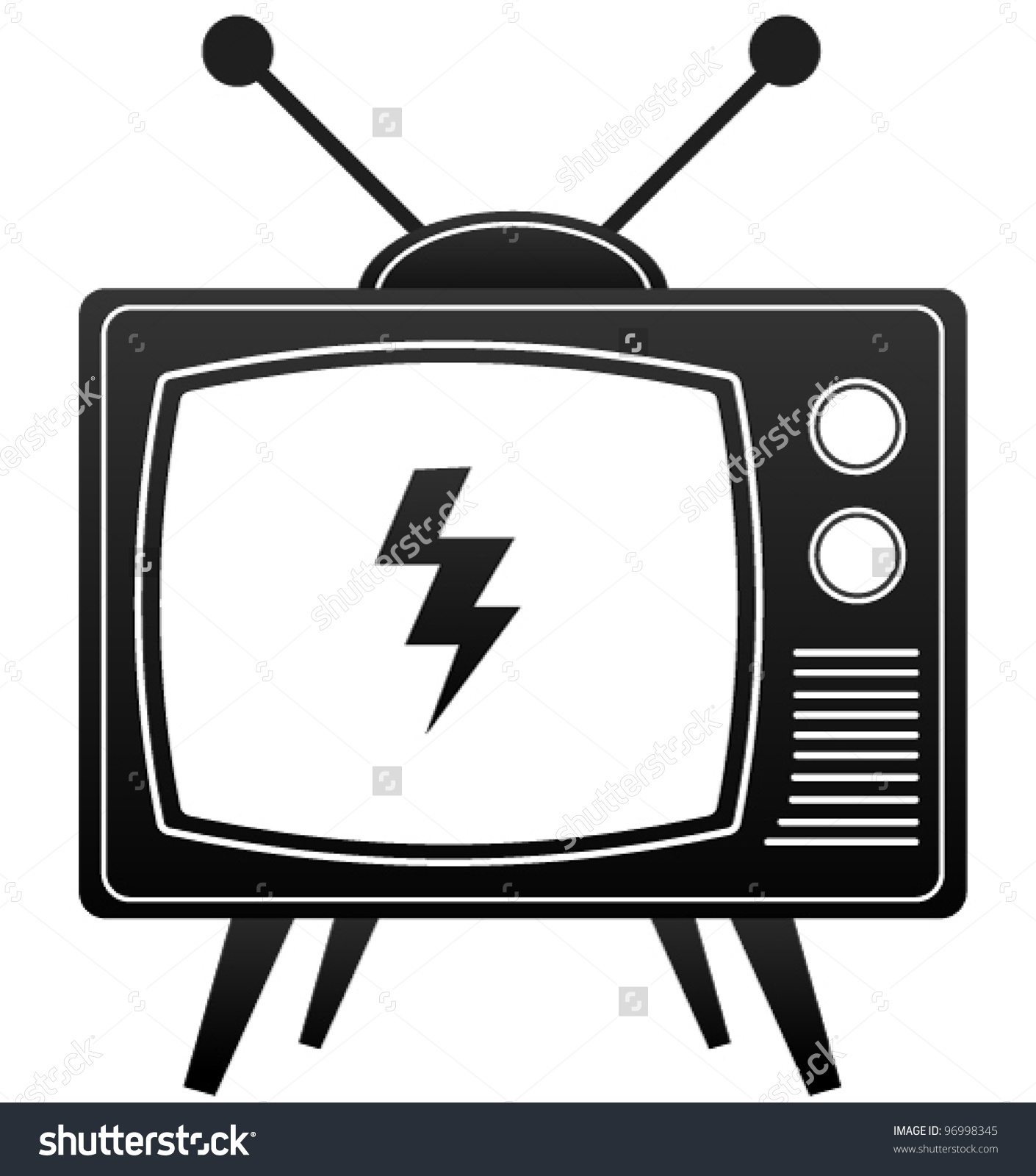 Tv Clipart Black And White