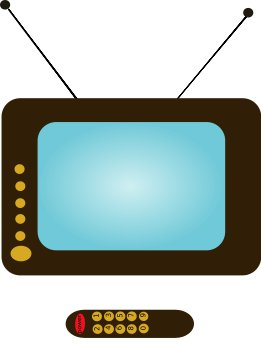 261x348 Free Tv And Remote Clipart