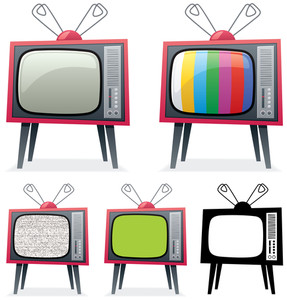 287x300 Old Retro Tv Royalty Free Stock Image