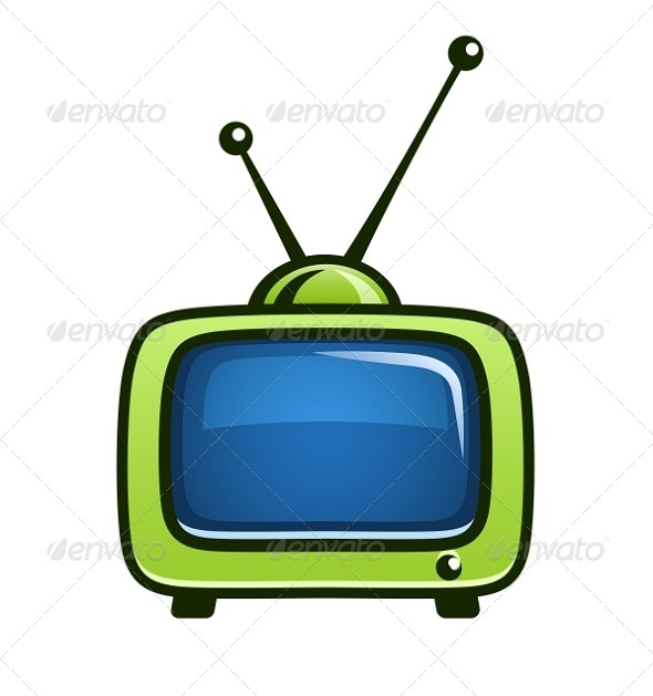 590x629 Vintage Tv Set Vector Clipart By Sweetok Graphicriver