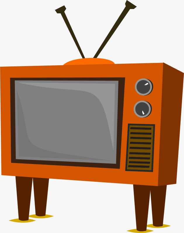 630x800 Orange Cartoon Tv Stand, Cartoon, Tv Set, Orange Png Image