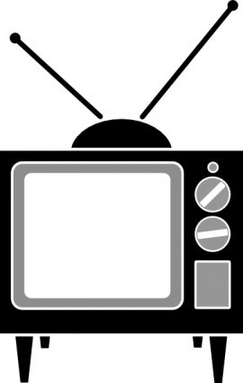 270x425 Television Set Clip Art, Vector Television Set