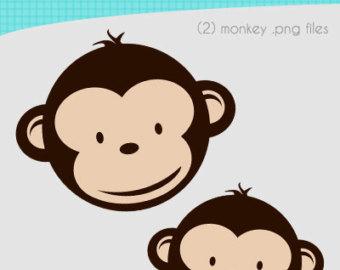 340x270 Twin Baby Monkey Clip Art
