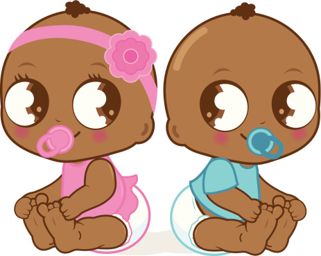 463x370 Twins Clipart African American