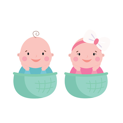 416x416 Twins Clipart Baby Face