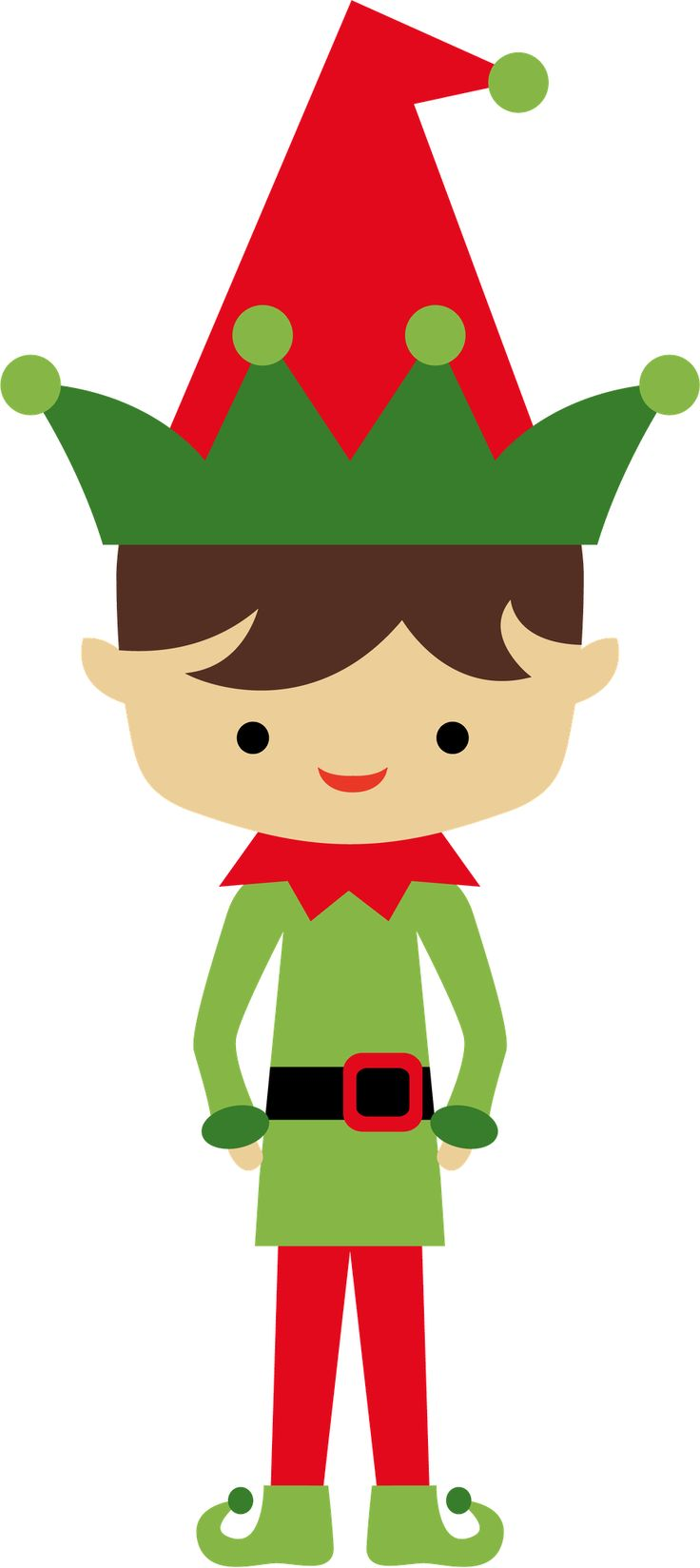 736x1648 Free Christmas Elf Clipart Image