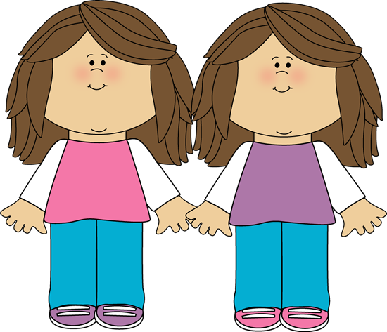550x473 Twin Sisters Clip Art Image
