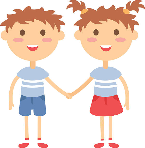 602x612 Twins Clipart Holding Hand