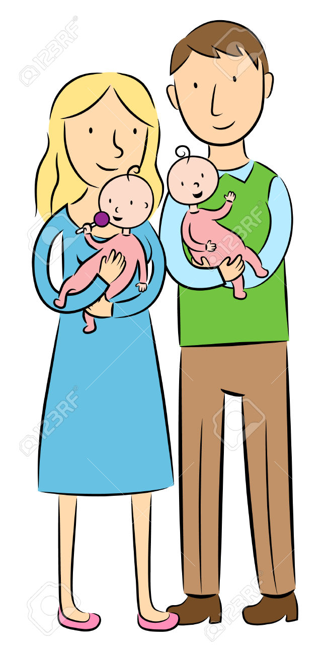 650x1300 Twins Clipart Mom