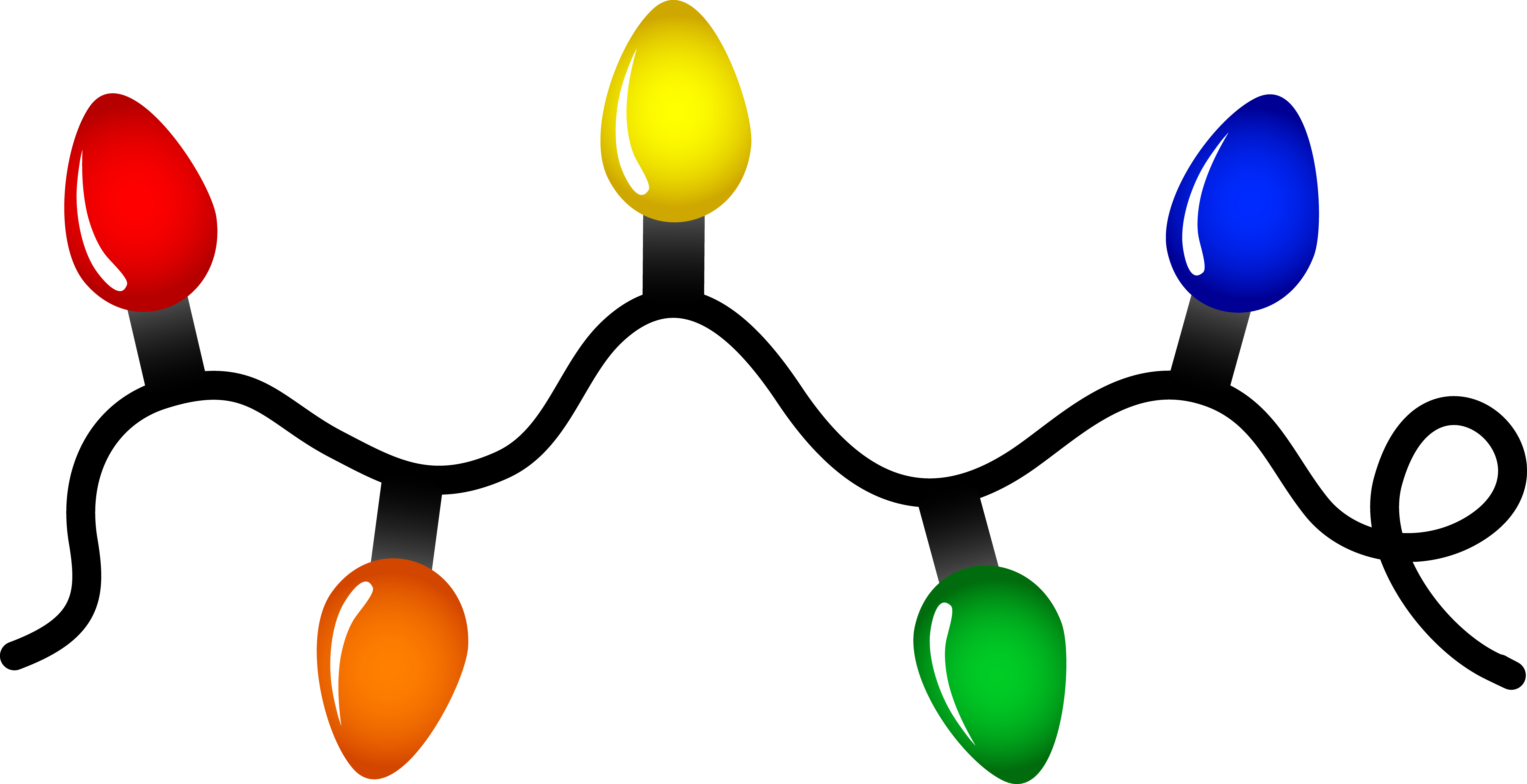 7709x3959 Christmas Lights Clipart Twinkle Light