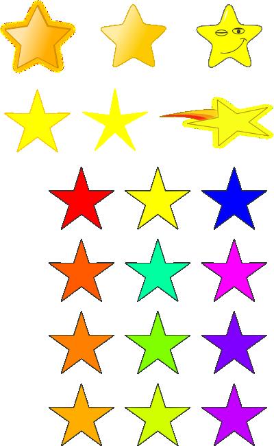 400x650 Stars Clip Art Primitives Free Clipart Images