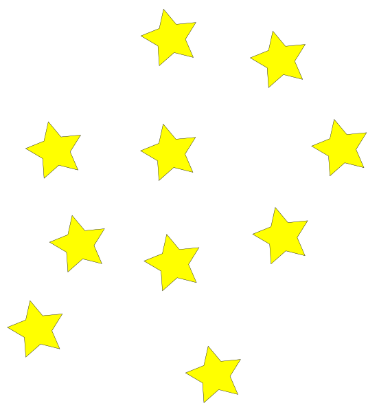 552x599 Yellow Stars Clipart 6 Id 70190 Clipart Pictures