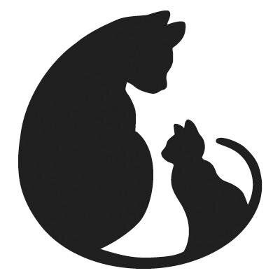 400x400 163 best Silhouettes Cat Silhouettes images