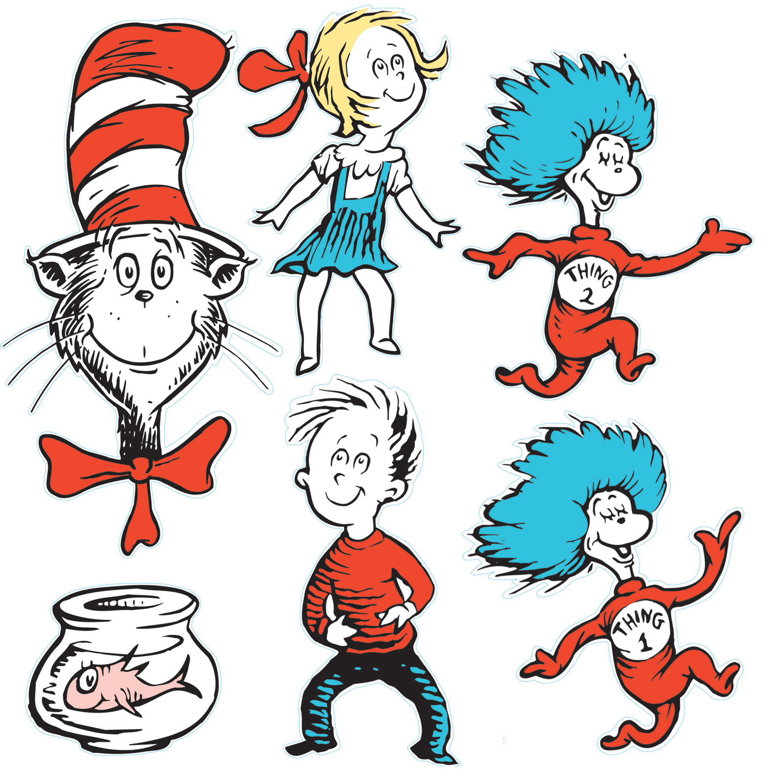 1576x1600 Dr seuss clipart thing 1 and thing 2