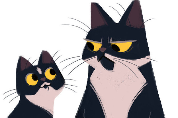 625x415 21 Beautiful Cat Illustrations That Will Remind You To Smile