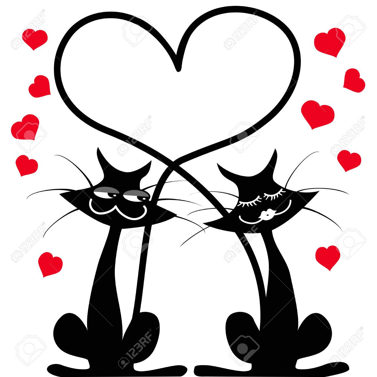 1300x1300 Black Cat Clipart Love Clipart