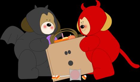 468x274 Halloween Monsters Clip Art