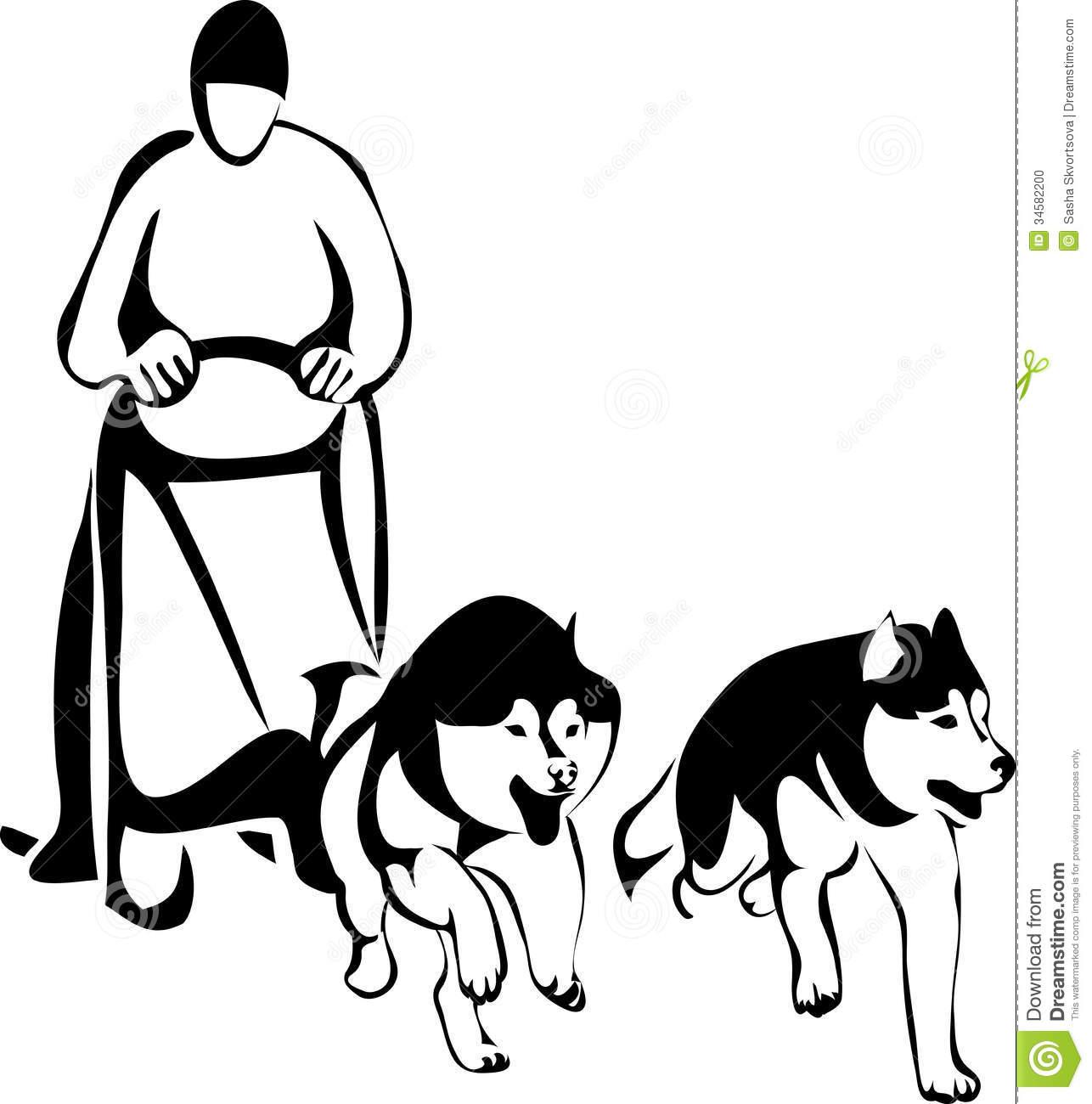 1286x1300 Husky Clipart Sled Dog