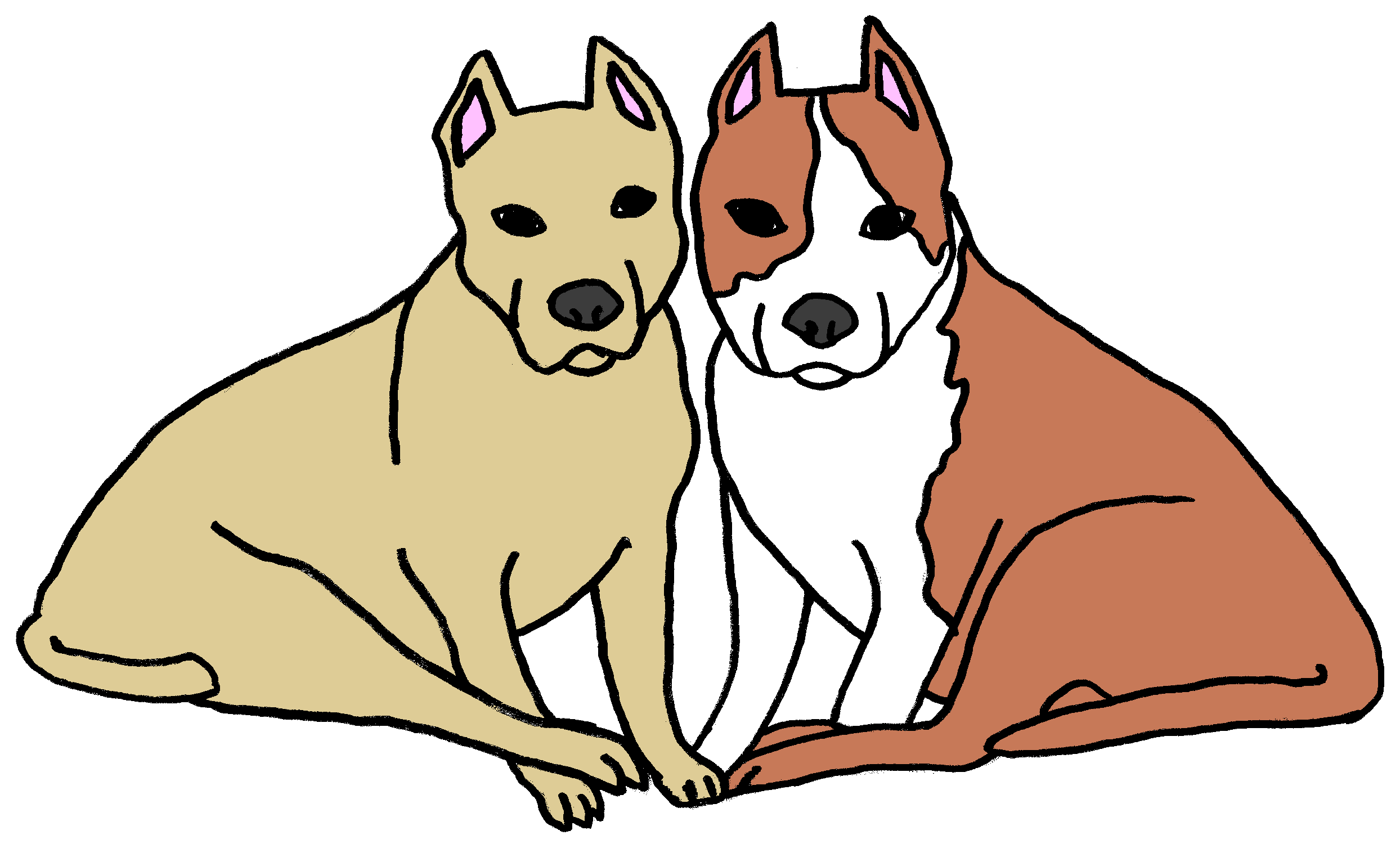 2488x1516 Pet Clipart Two Dog