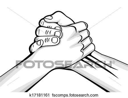 450x344 Clipart Of Handshake Two Male Hands K17181161
