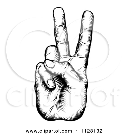 450x470 Finger Clipart Victory