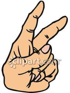 225x300 Fingers Up Clipart