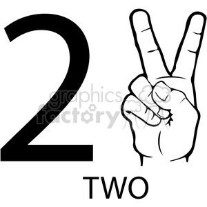 300x300 Royalty Free Asl Sign Language 2 Clipart Illustration Worksheet
