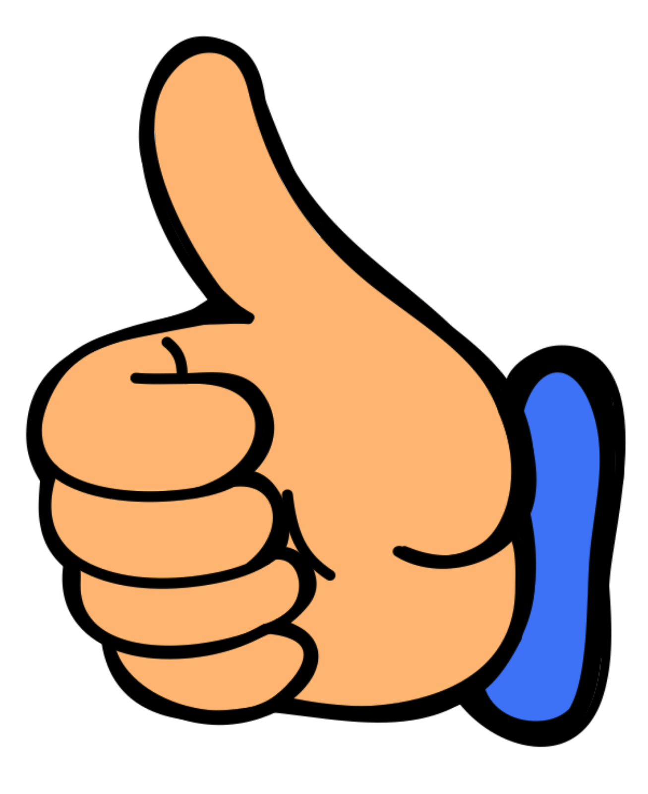 1307x1600 Two Thumbs Clipart
