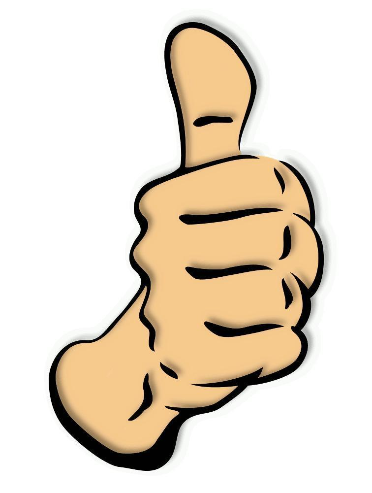756x1001 Two Thumbs Up Clipart