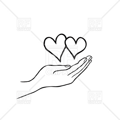 400x400 Two Heart In Love In Your Hand. Save Love Concept Royalty Free