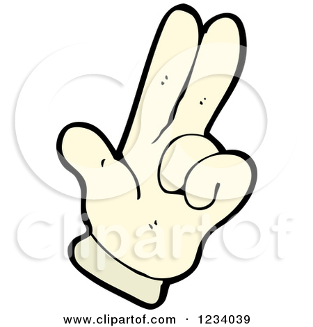 450x470 2 Fingers Up Clipart