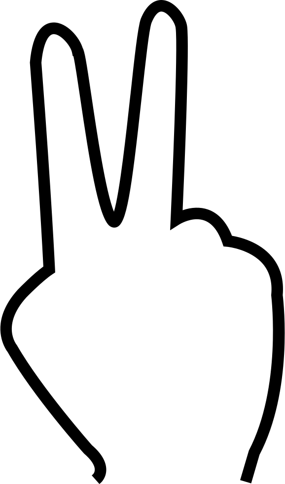 578x980 Two Fingers Svg Png Icon Free Download ( 34617)