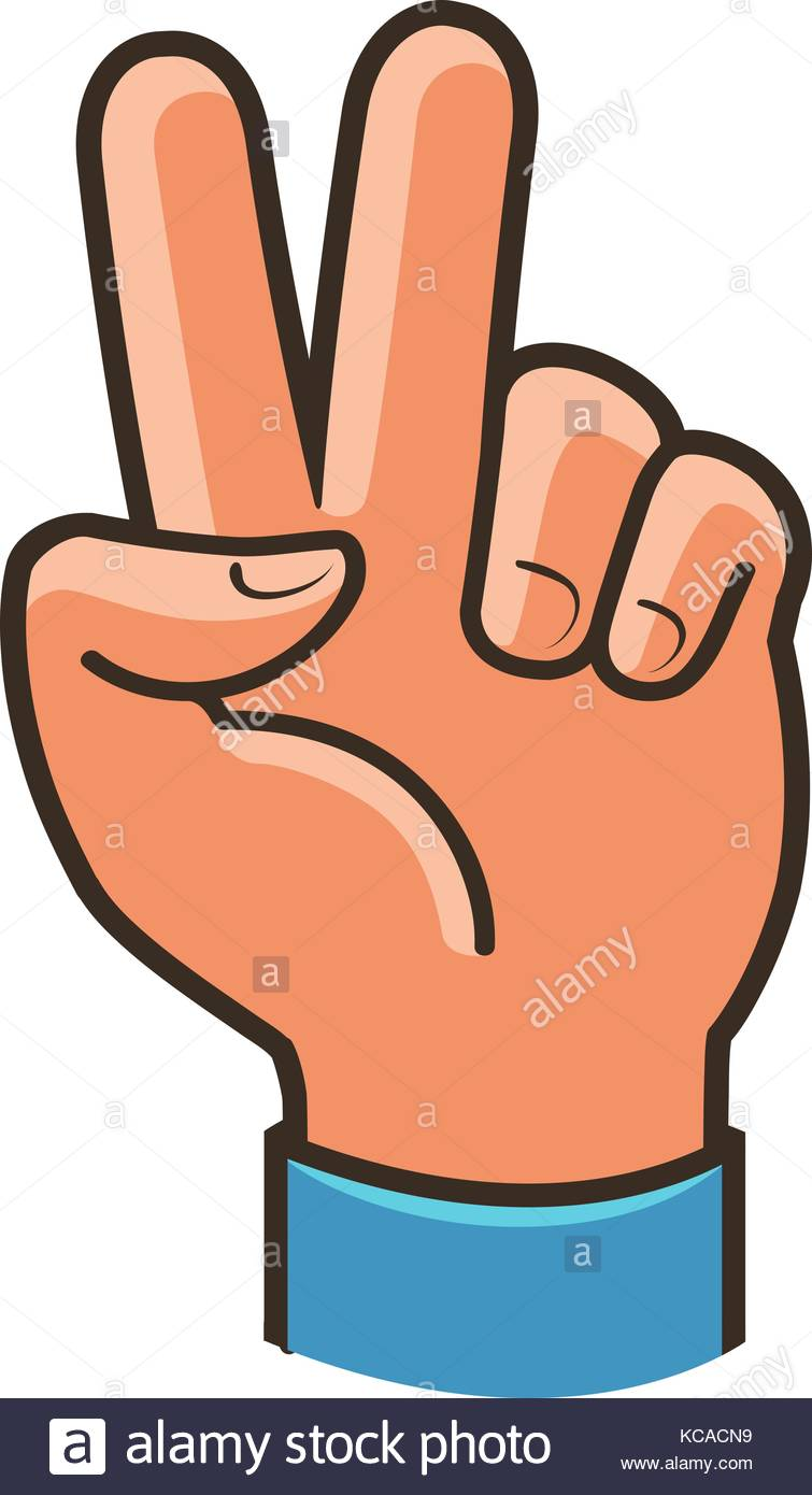 755x1390 Victory Sign, Gesture. Two Fingers Raised Up, Peace, Winning