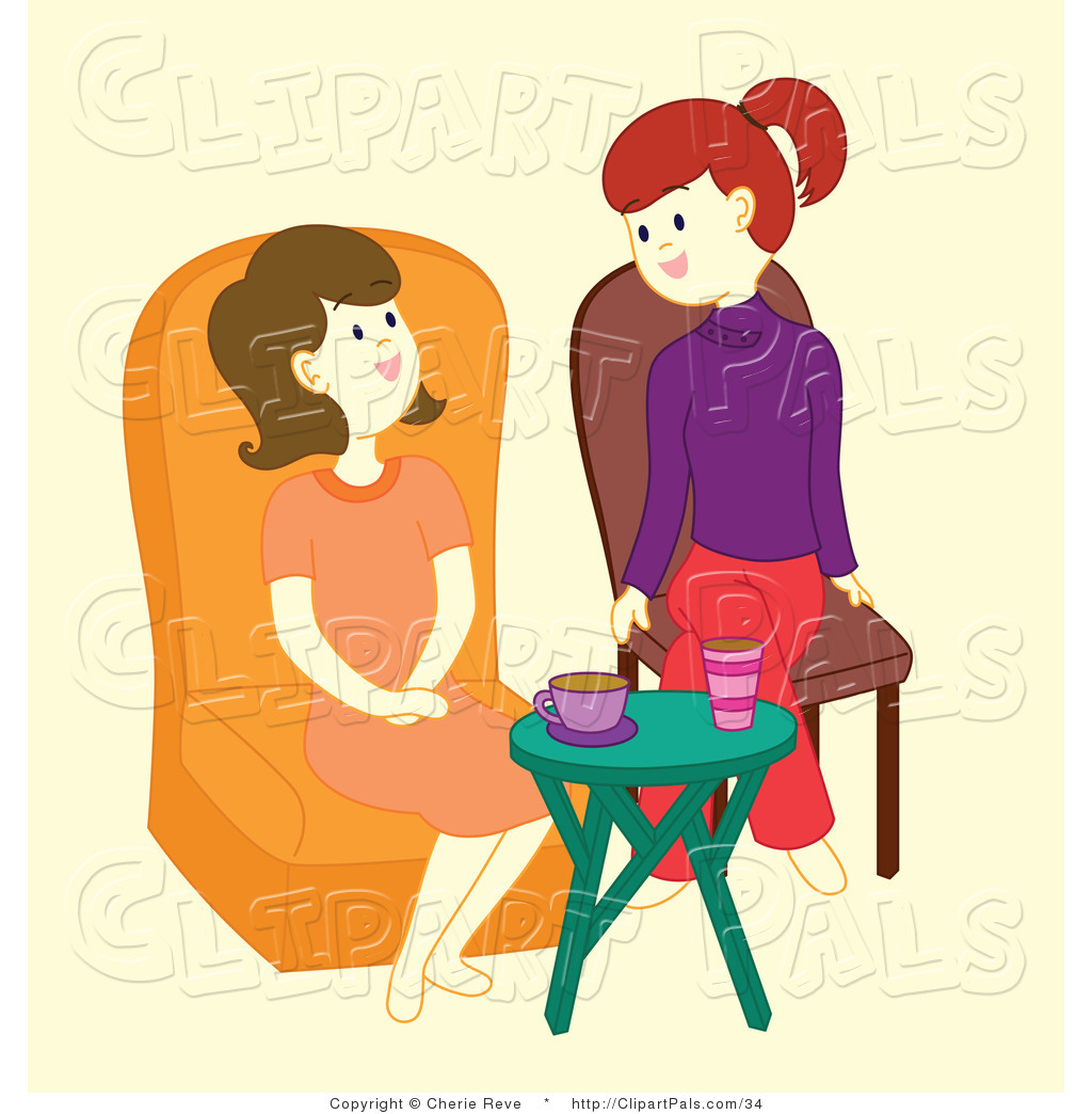 1024x1044 Pal Vector Clipart Of Friends Talking By Cherie Reve