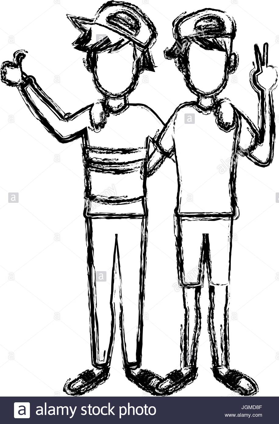 915x1390 Two Boys Smiling Hugging And Waving Their Hands Best Friends Stock