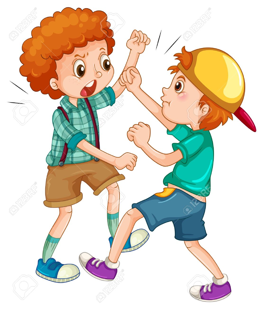 Two People Fighting Clipart