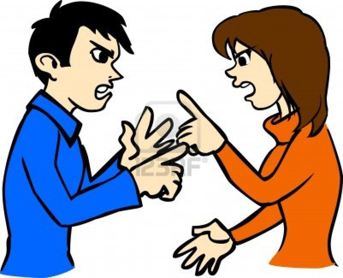1203x975 Couple Arguing Clipart