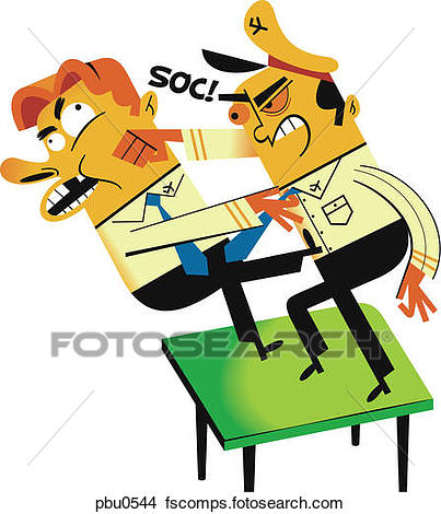 403x470 Stock Illustration Of Two People Fighting Over Belongings Yan0087