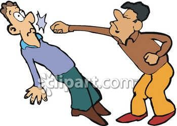 350x251 Two Men Fighting Clip Art