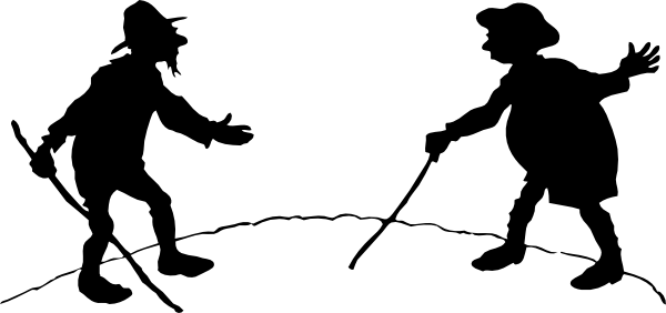 600x282 Two Men With Canes Clip Art