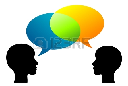 Two People Talking Images