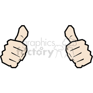 300x300 Royalty Free Two Thumbs Up This Person Image 390033 Vector Clip