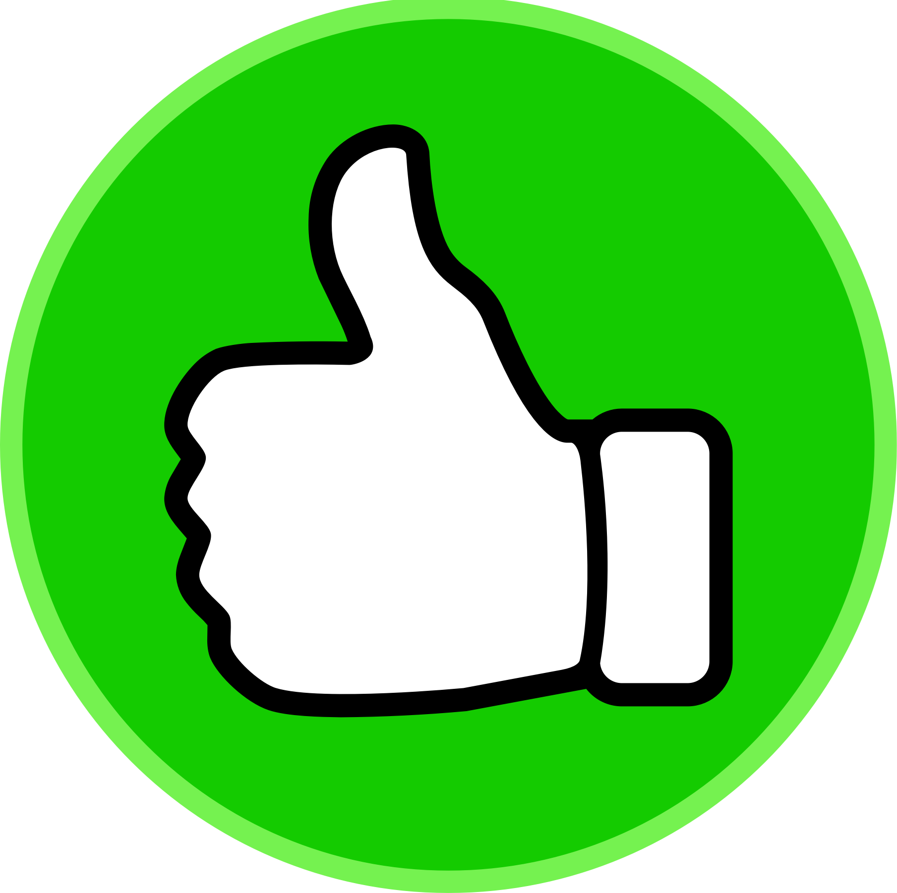 1809x1802 Thumbs Up Clipart