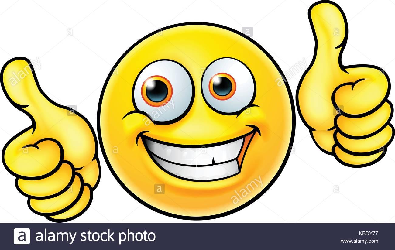 1300x823 Happy Thumbs Up Emoji Emoticon Stock Vector Art Amp Illustration