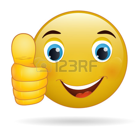 450x429 A Cartoon Emoji Icon Looking Very Happy With His Thumbs Up, He