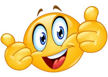 350x250 Thumbs Up Emoji Text