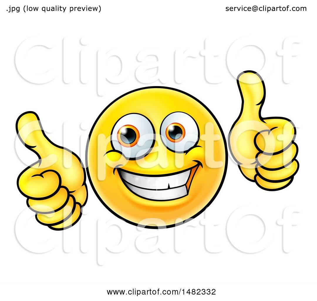 1080x1024 Clipart Of A Cartoon Happy Yellow Emoji Smiley Face Emoticon