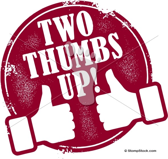 590x558 Two Thumbs Up Recognition Stamp Stompstock